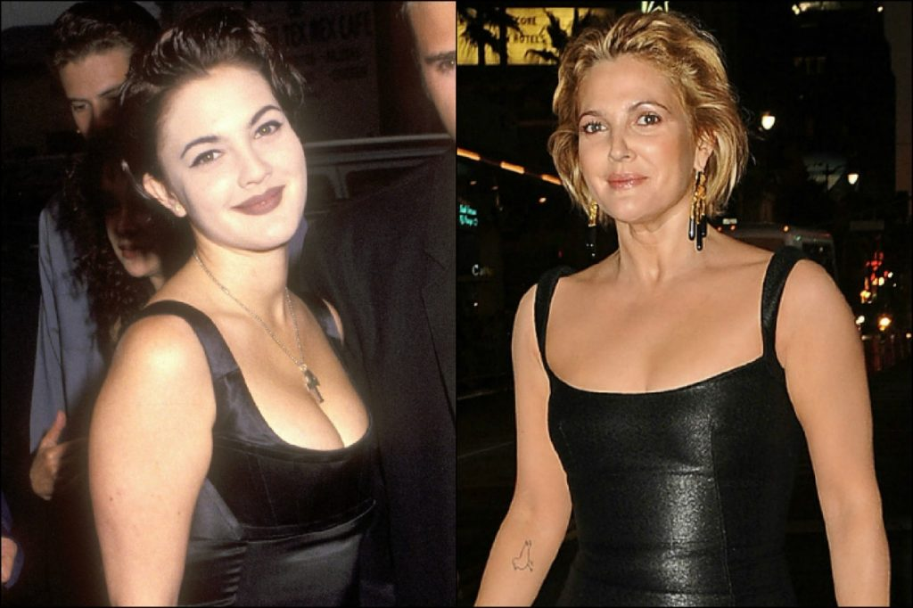 drew barrymore before and after